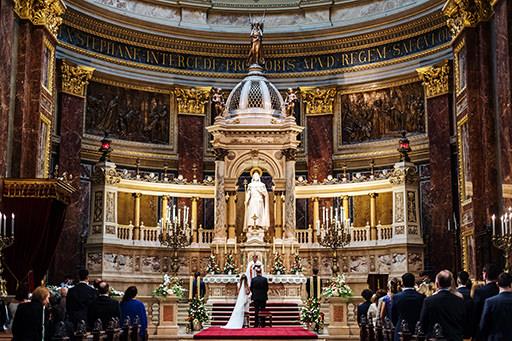 Esküvői fotózás Bazilika Budapest Betti & Dani |Seres Zsolt fotós