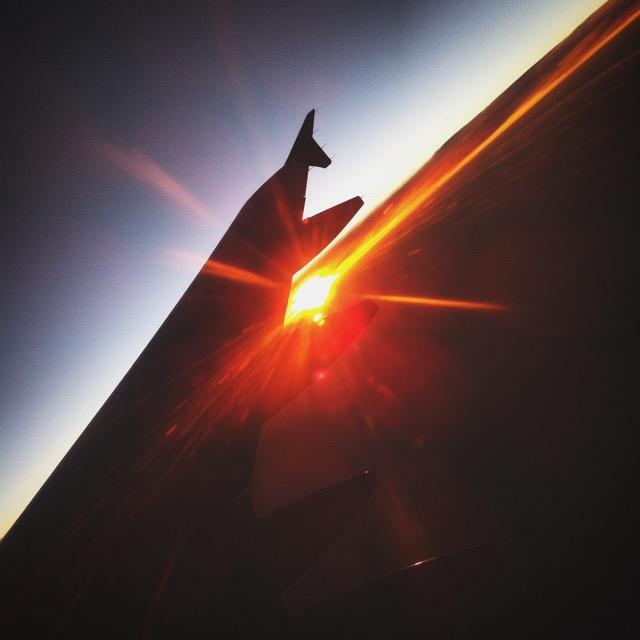 Naplemente a repülőről - mobilfotó | Seres Zsolt fotós