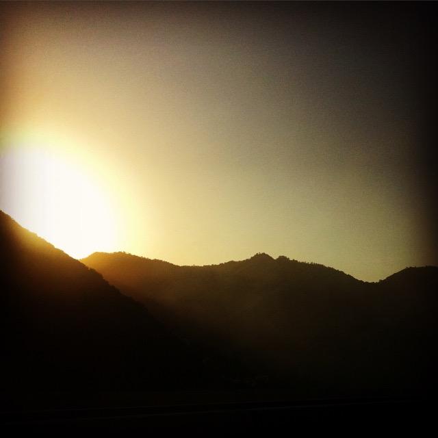 Első naplemente Kínában - mobilfotó  | Seres Zsolt fotós